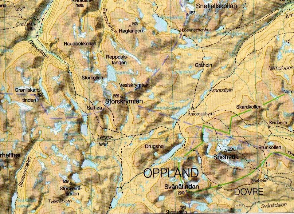 storskrymten kart Index of /Artikler/Grensefjell/Bilder storskrymten kart